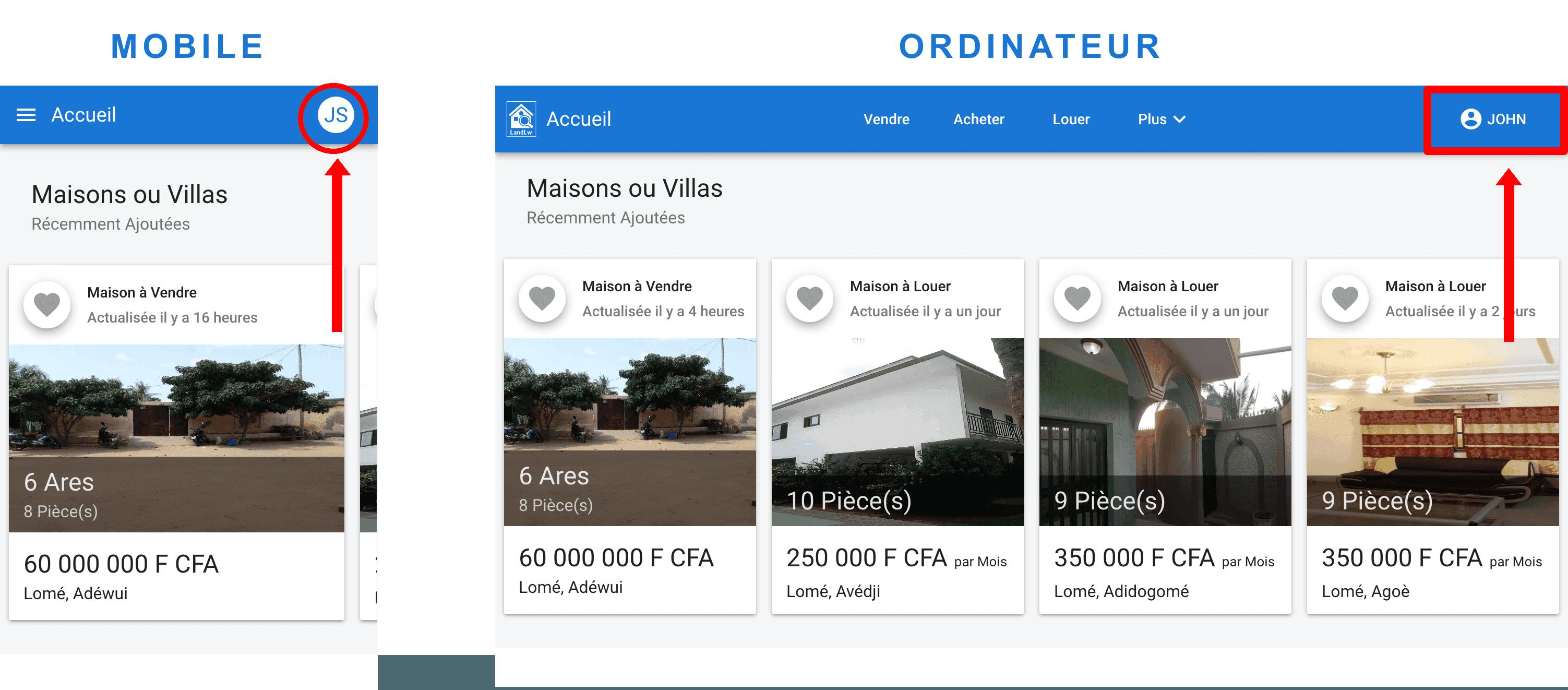 Comment ajouter une maison à vendre sur LandLw